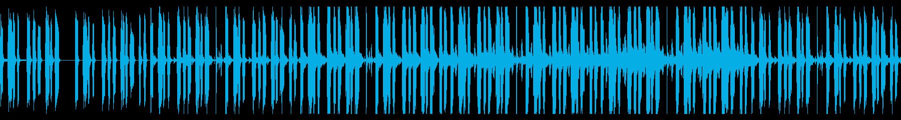 コミカルな雰囲気のファンクの再生済みの波形