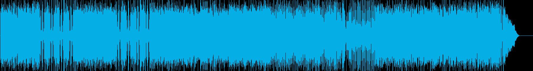 ノスタルジックなポップロックの再生済みの波形