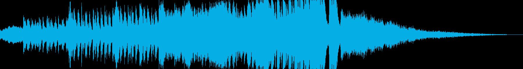荒々しく迫力のあるオーケストラの再生済みの波形