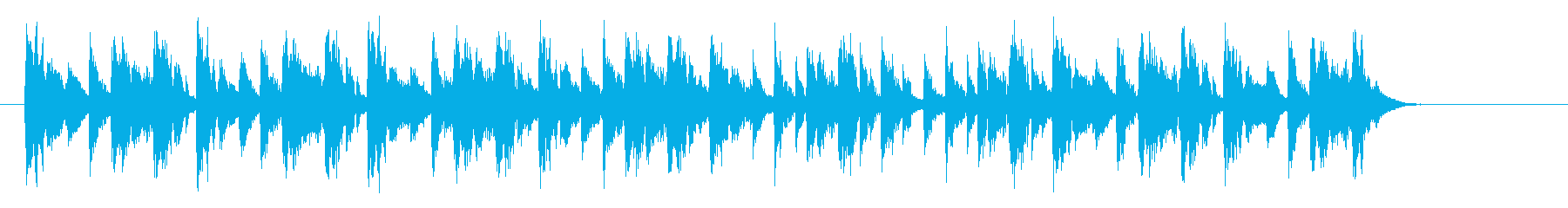 アップテンポでミステリアスな音楽の再生済みの波形