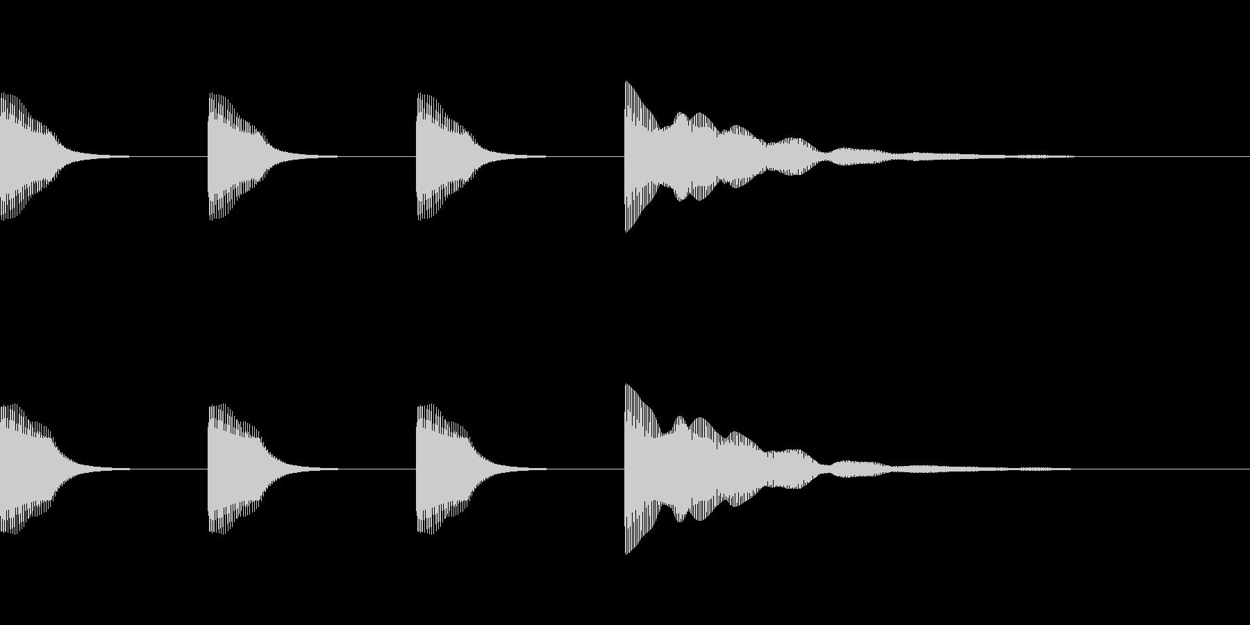レースのスタート音・時報 (2音ハモリ)の未再生の波形