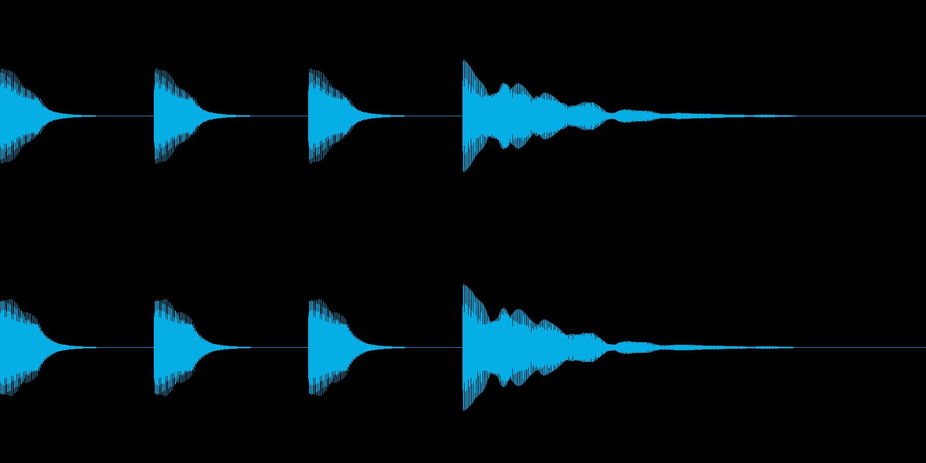 レースのスタート音・時報 (2音ハモリ)の再生済みの波形