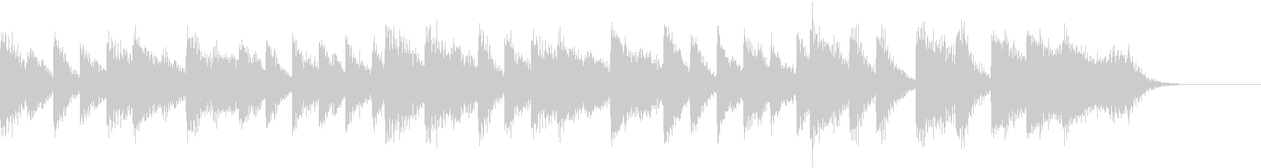 サンバリズムの軽快な常夏のピアノジングルの未再生の波形