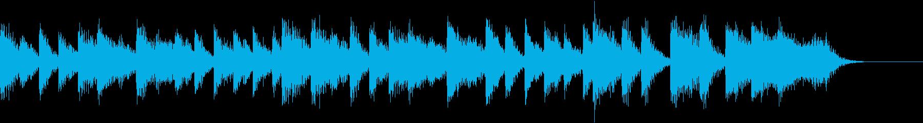 サンバリズムの軽快な常夏のピアノジングルの再生済みの波形