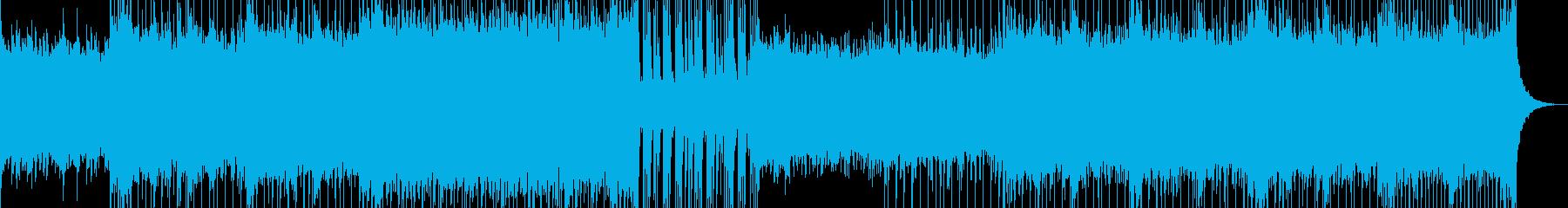 軽快なピアノポップの再生済みの波形