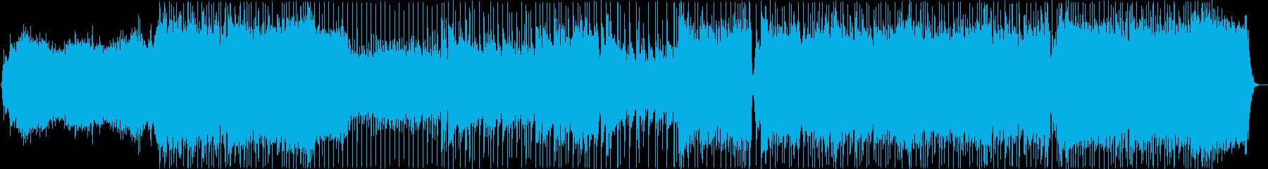 アイドルアニメのオープニング風BGMの再生済みの波形