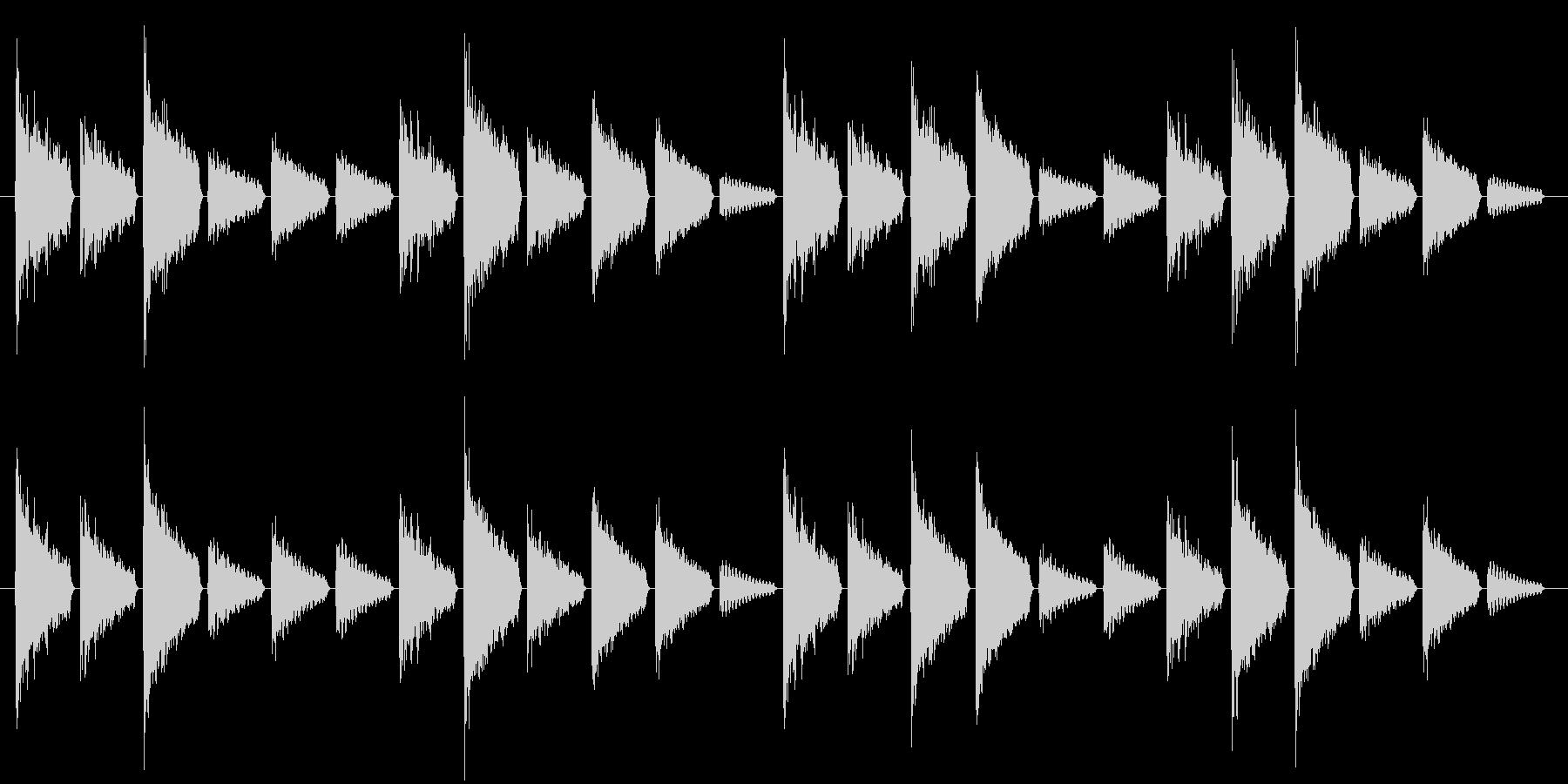危険を知らせるアラート音(警戒度:中)の未再生の波形