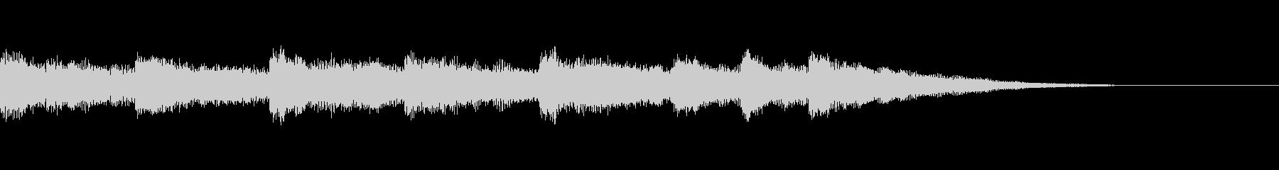 壮大なピアノジングルの未再生の波形