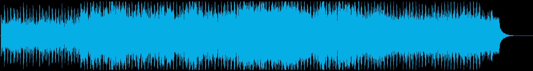 コスミックなイメージのリラックスBGMの再生済みの波形