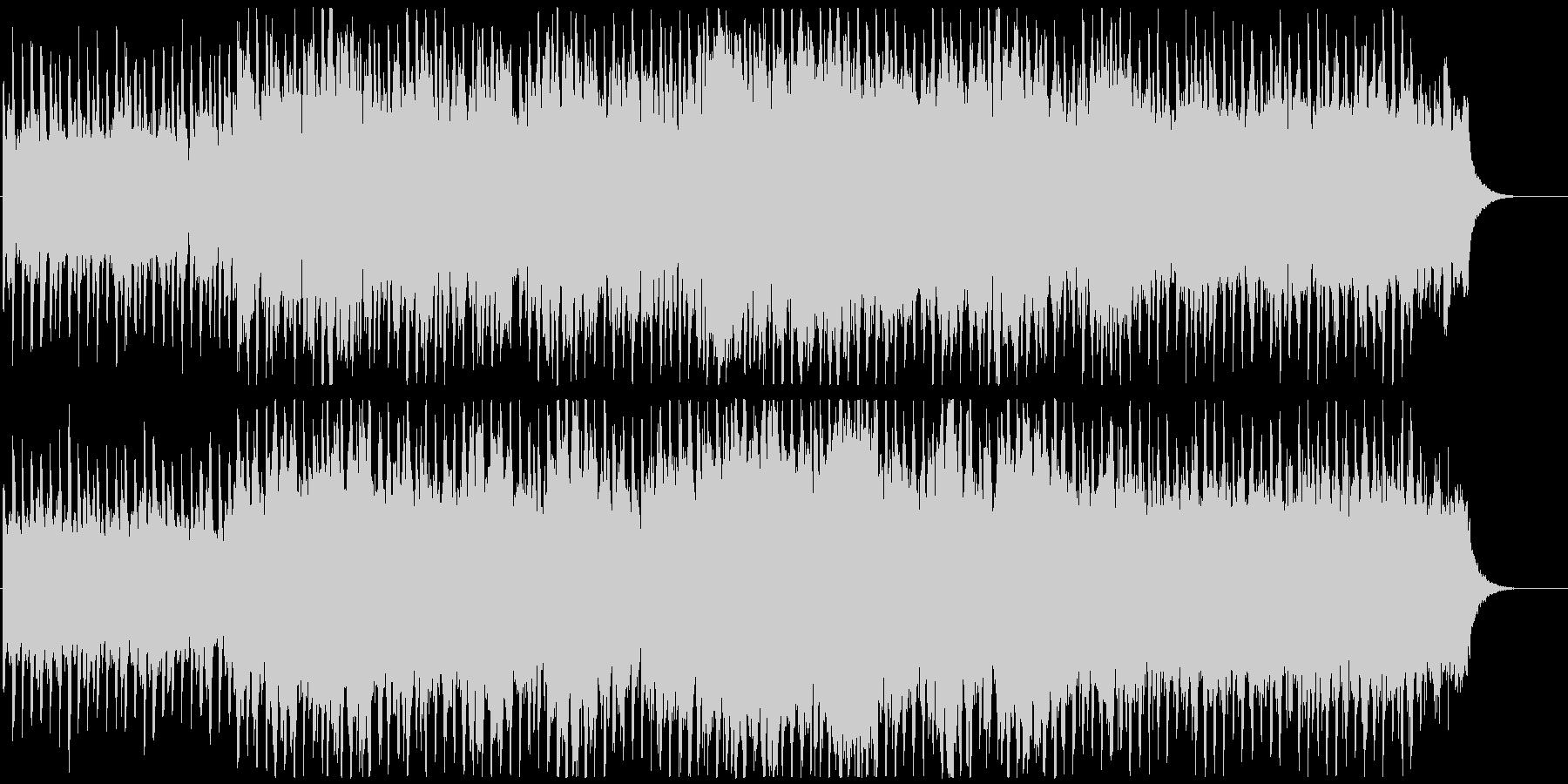 コスミックなイメージのリラックスBGMの未再生の波形
