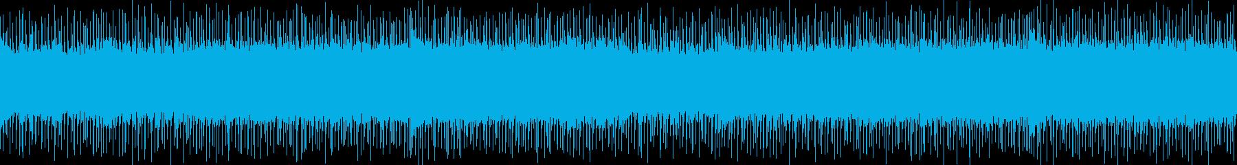 シンセとエレキギターの熱いロックサウンドの再生済みの波形