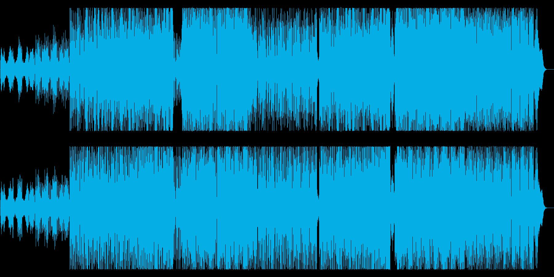 緩やかで軽快なテクノロックサウンドの再生済みの波形