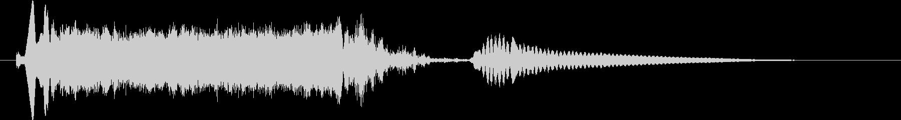 オープニングロゴ シンセサイザー Bの未再生の波形