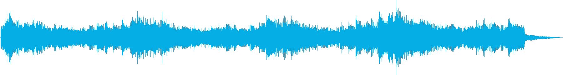 Beautiful and fantastic healing jingle's reproduced waveform