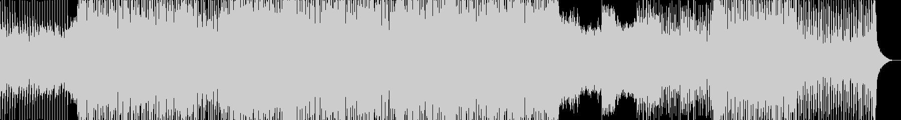 ゲームのBGM向けハウストラックの未再生の波形