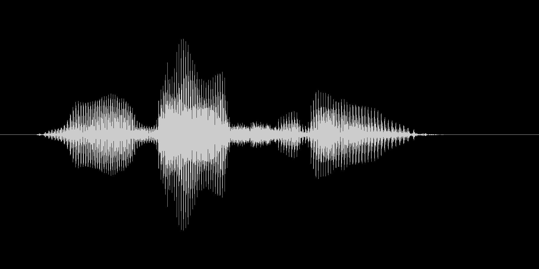 オーバースローの未再生の波形
