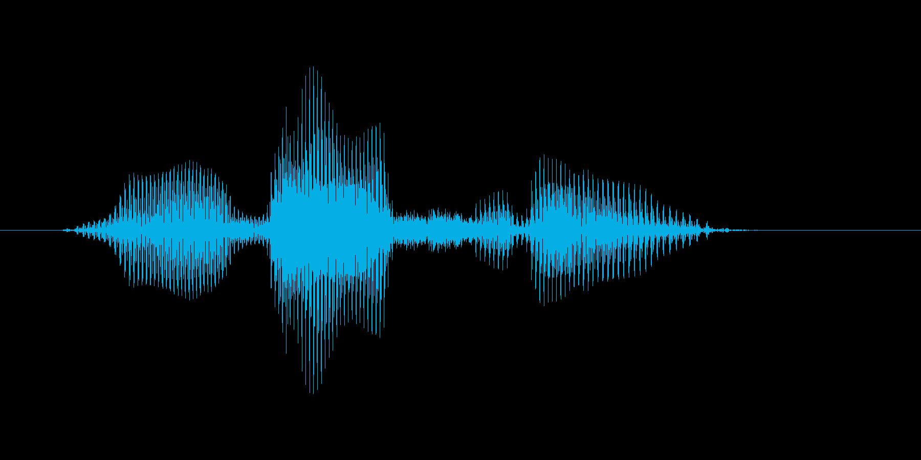 オーバースローの再生済みの波形