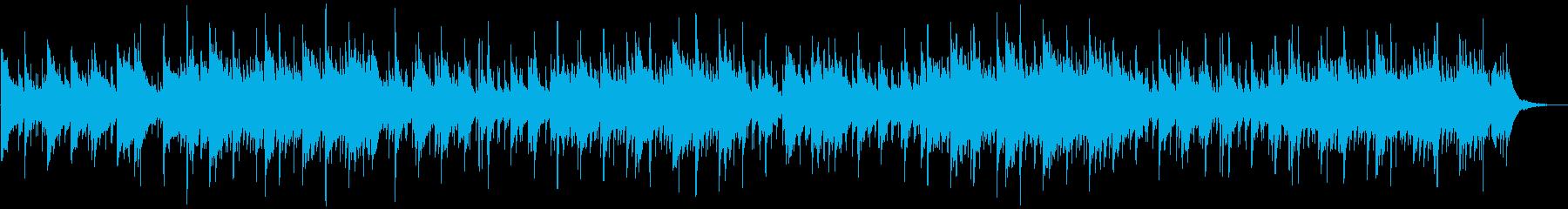 日の出を予感するようなポップなBGMの再生済みの波形