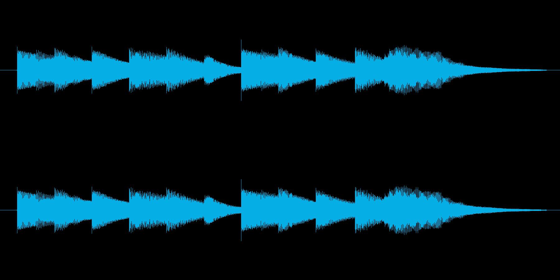 透明感のある音源使用 お知らせの合図ベ…の再生済みの波形