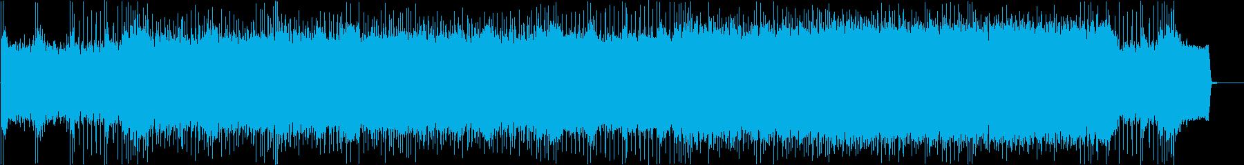 激しいバトルをイメージしたメタルBGMの再生済みの波形