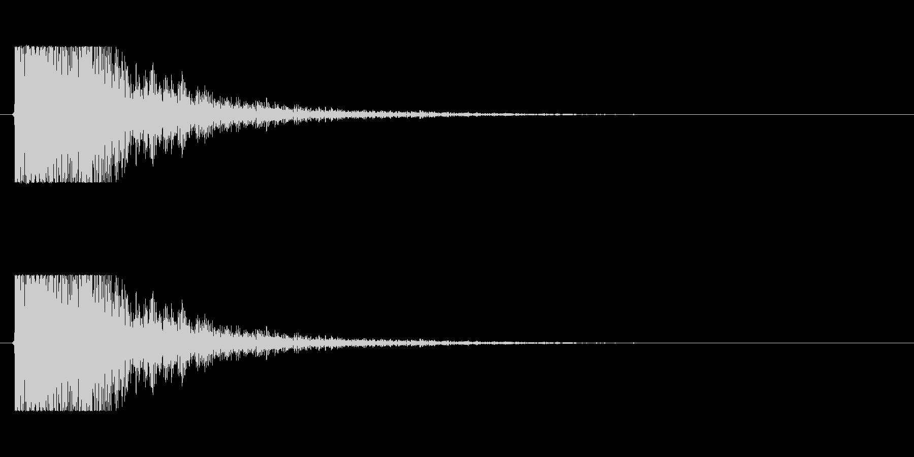 【大砲01-1】の未再生の波形