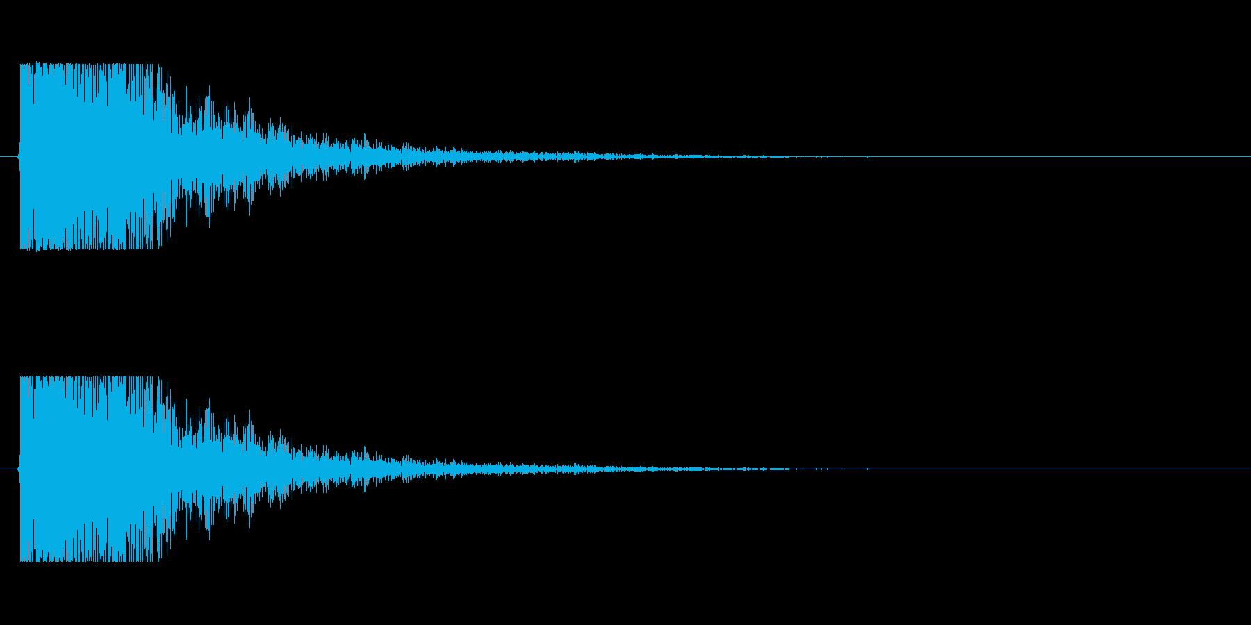 【大砲01-1】の再生済みの波形