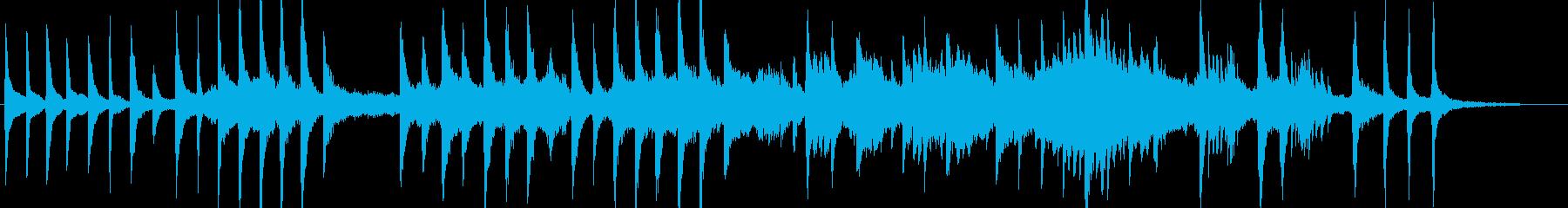 幻想的なピアノとボイスのアンビエントの再生済みの波形