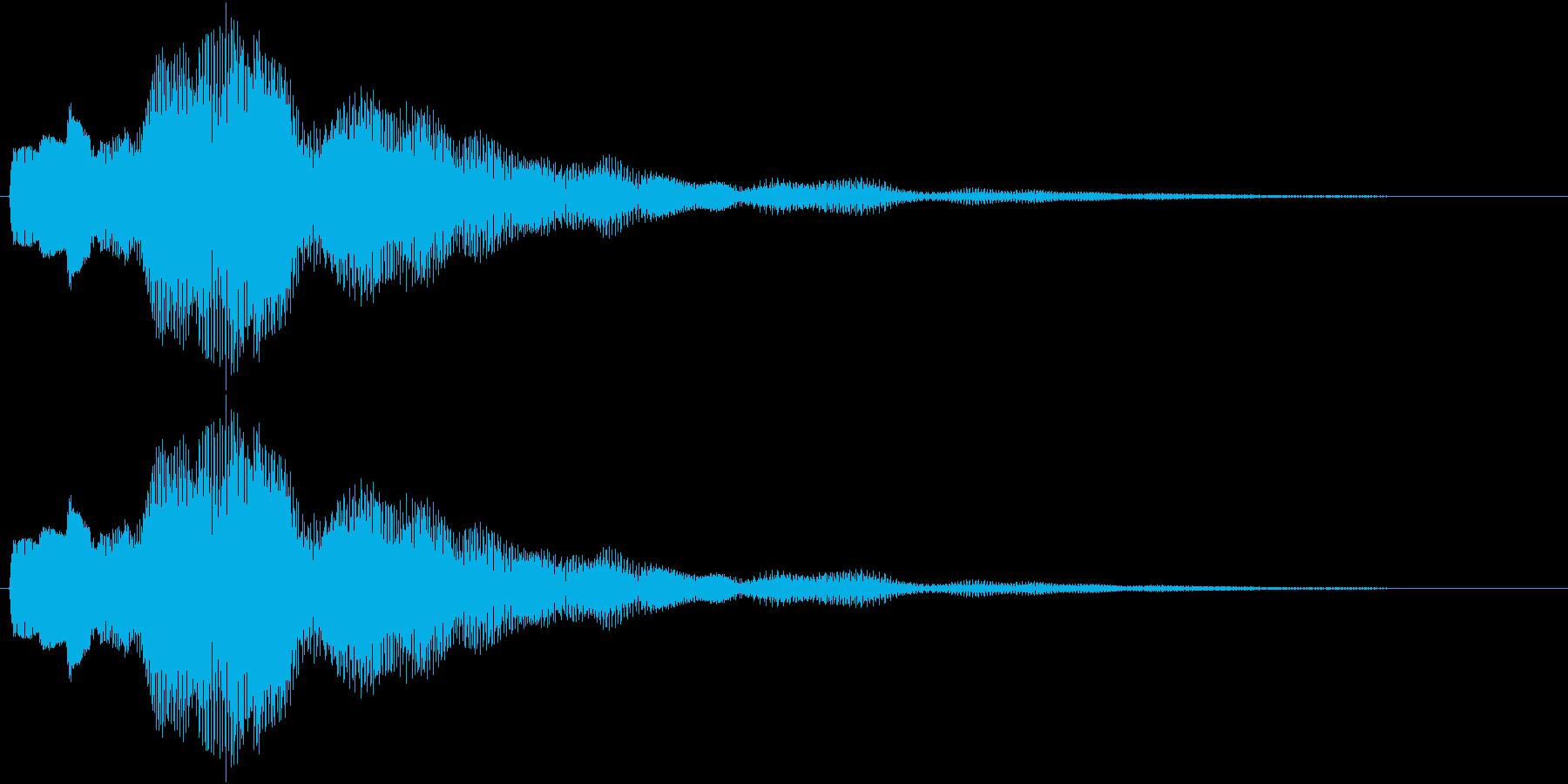 ワンポイント、アナウンス等の再生済みの波形