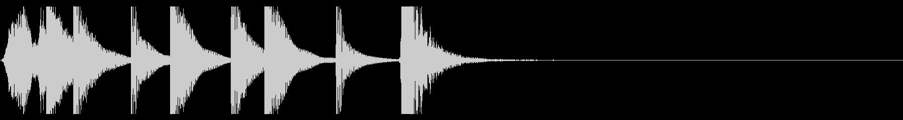歌舞伎・能◆かけ声 締太鼓 ポンッ 04の未再生の波形