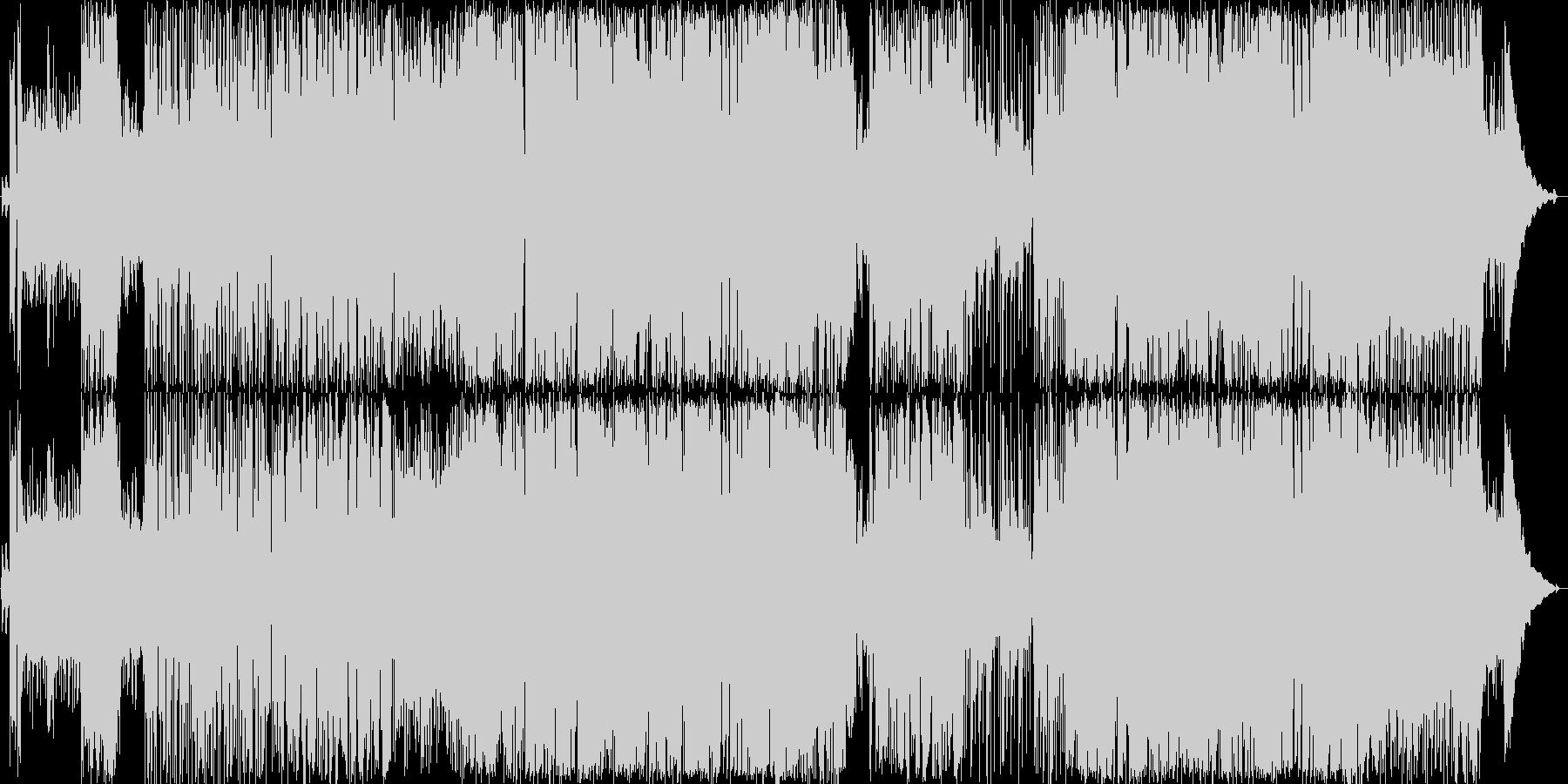 ギターリフがかっこいいロックバンド曲の未再生の波形