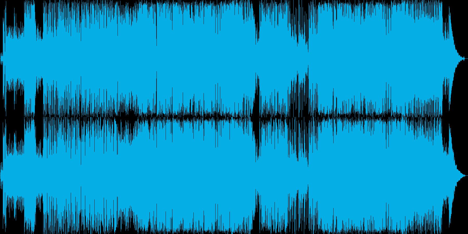ギターリフがかっこいいロックバンド曲の再生済みの波形