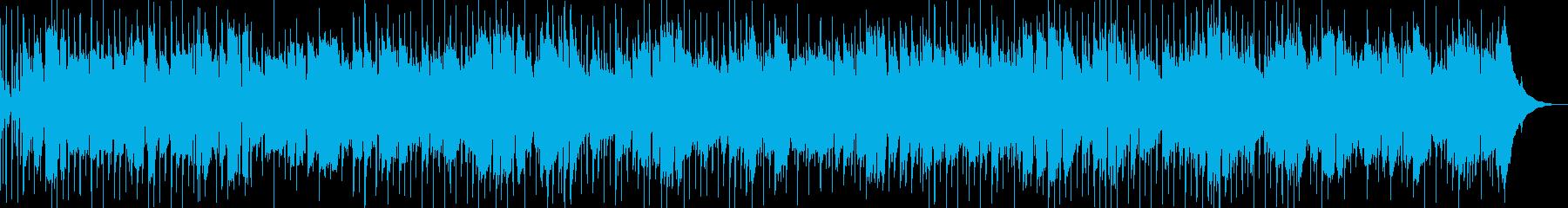 陽気なカントリー調軽快BGMの再生済みの波形