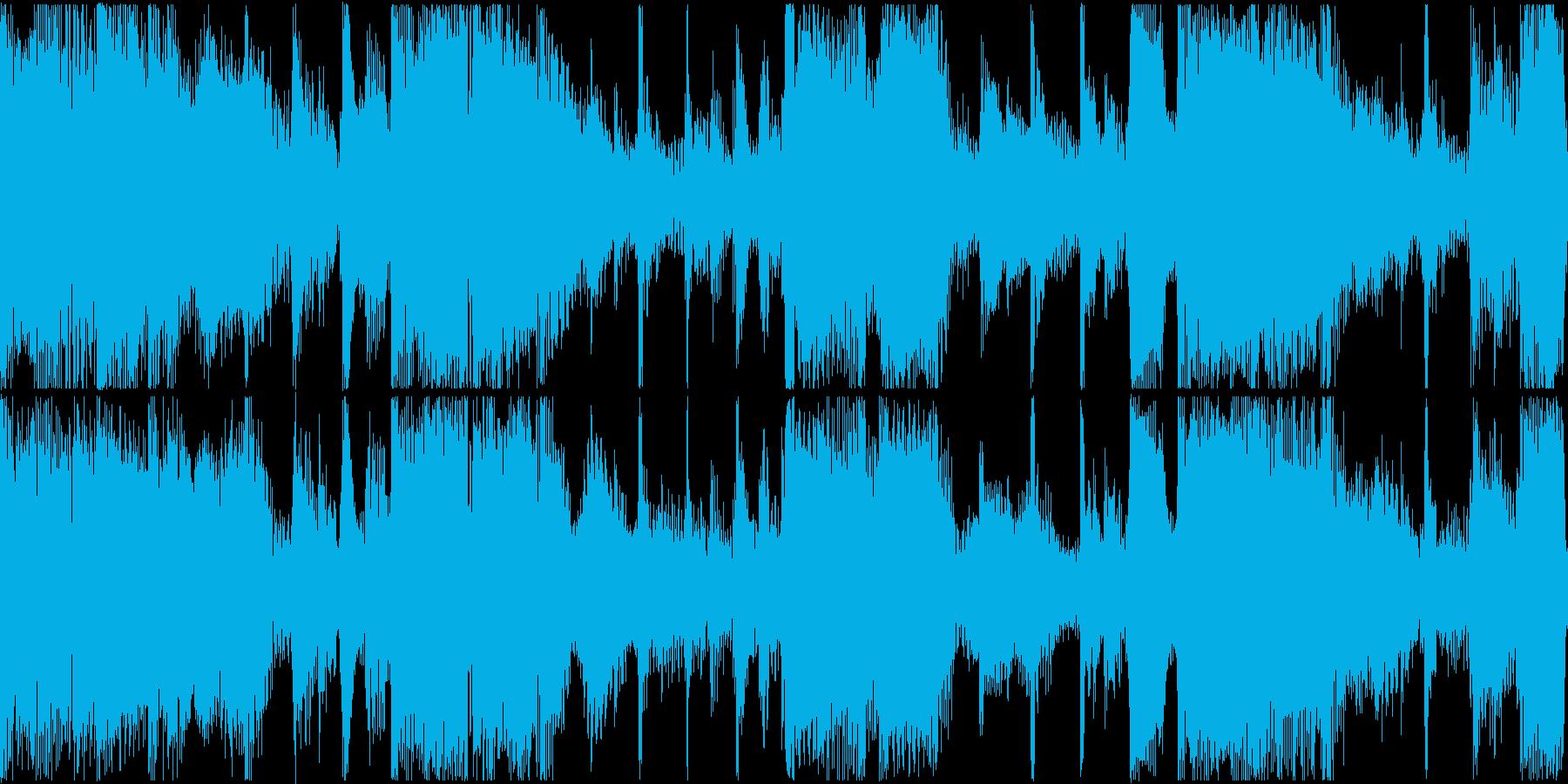 アコースティックギターとフレットレ...の再生済みの波形