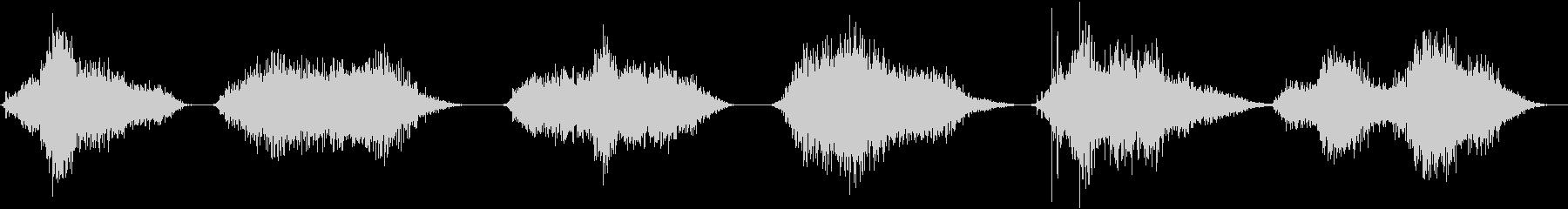 ガーリングブレスクリーチャーヒス&呼吸の未再生の波形