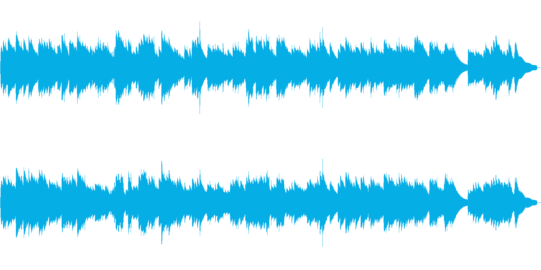 オルゴールが優しいイージーリスニングの再生済みの波形