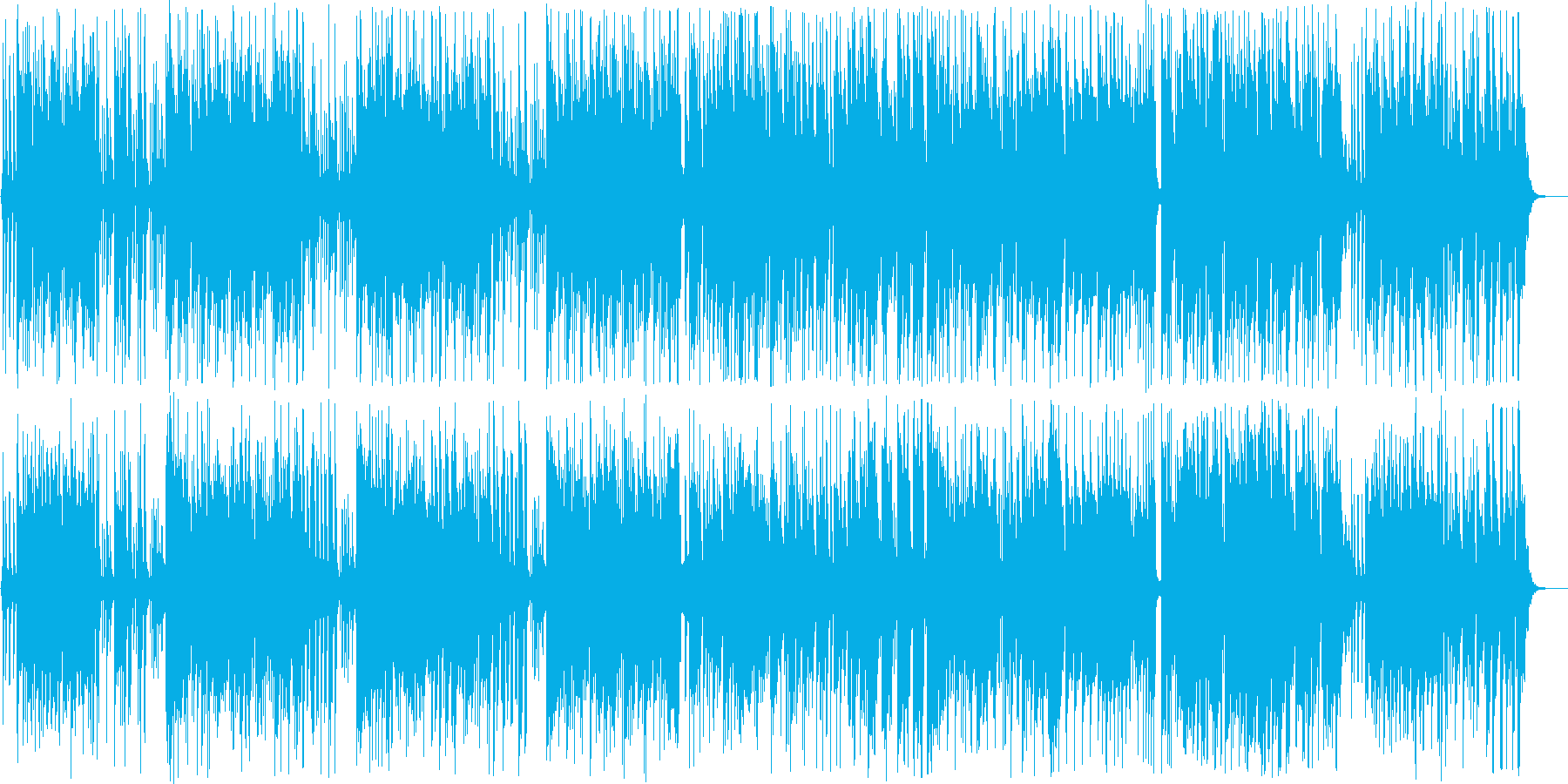 南国を思わせるようなインフォメーション曲の再生済みの波形