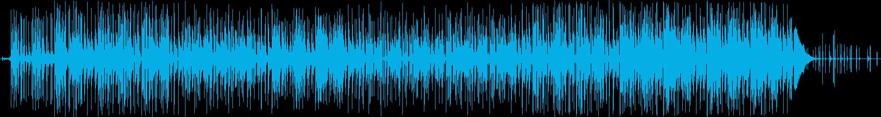 蒸し暑い感じのインド楽曲の再生済みの波形
