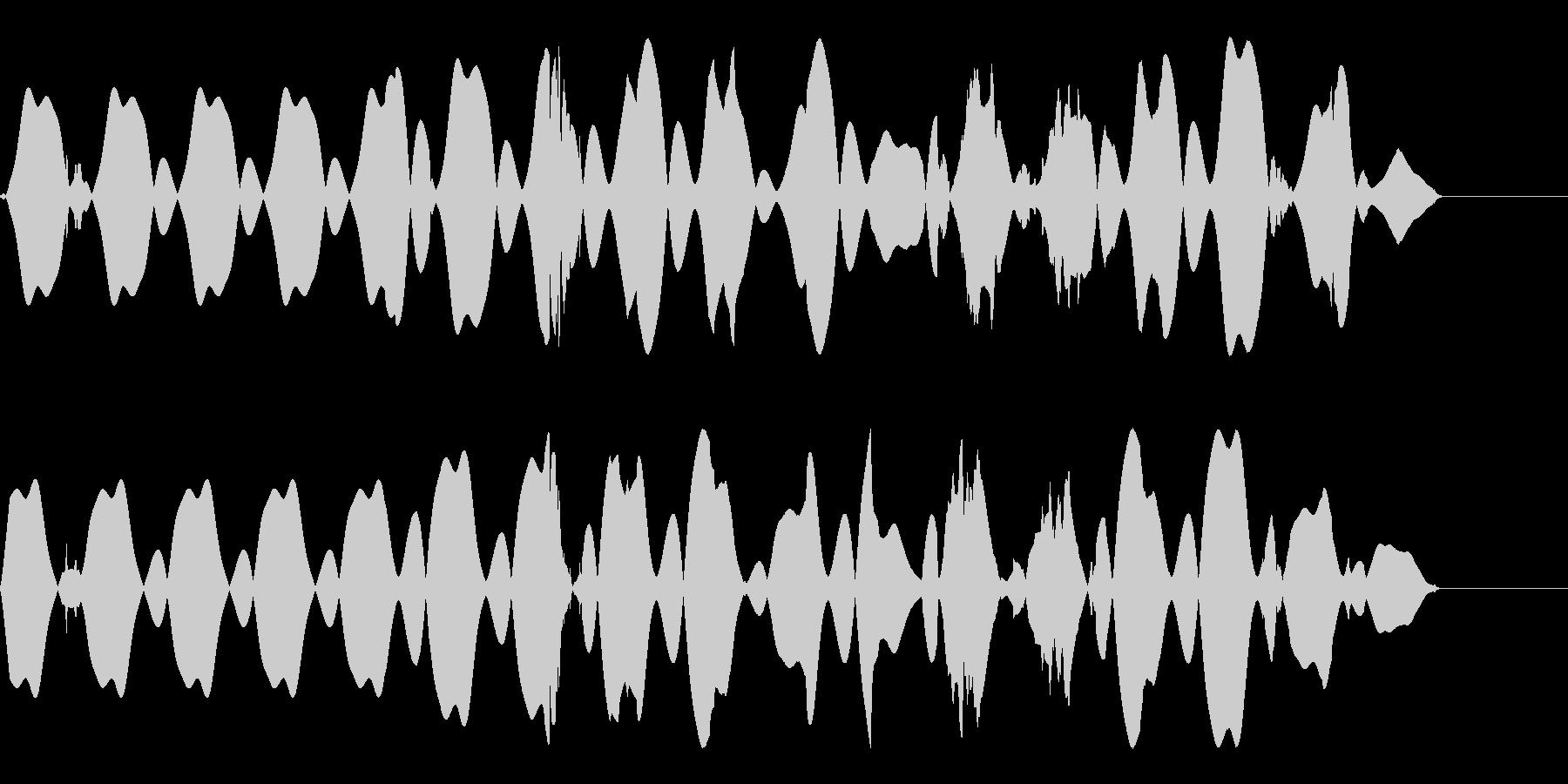 探知機の未再生の波形