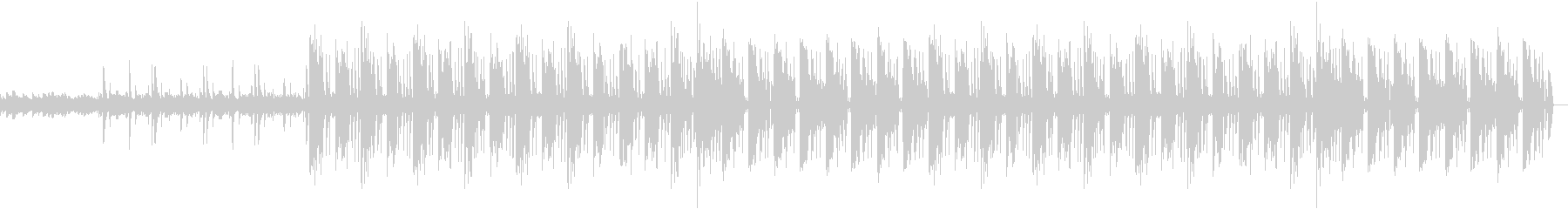 キーボードとリズムマシーンによる曲の未再生の波形