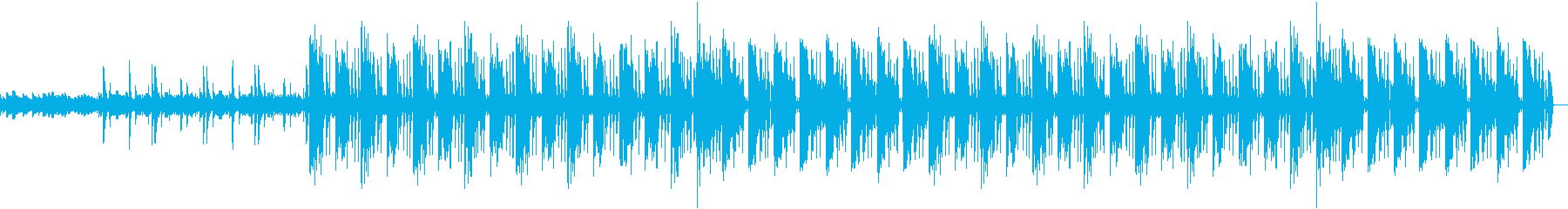 キーボードとリズムマシーンによる曲の再生済みの波形