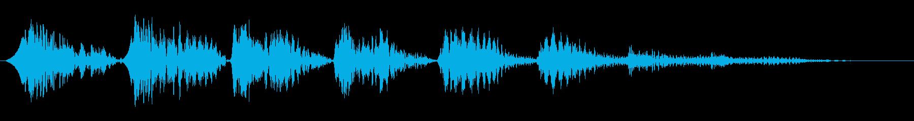 バネ系ピョンピョン…高音への再生済みの波形
