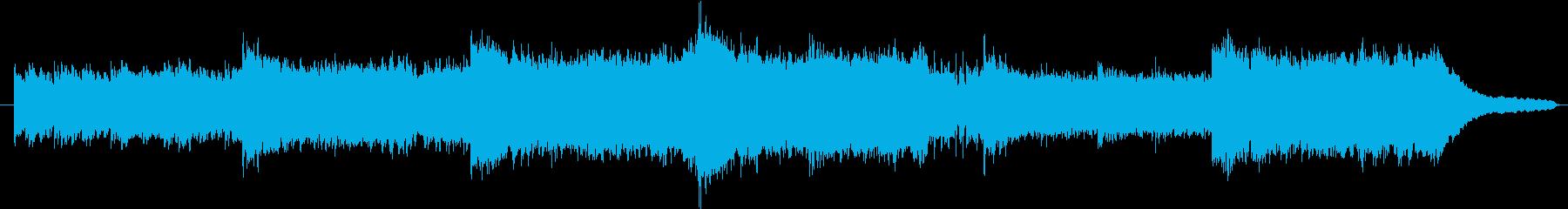 感情的に充実した曲の再生済みの波形