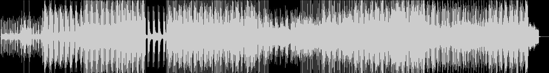 相反した音が混ざったテクノの未再生の波形
