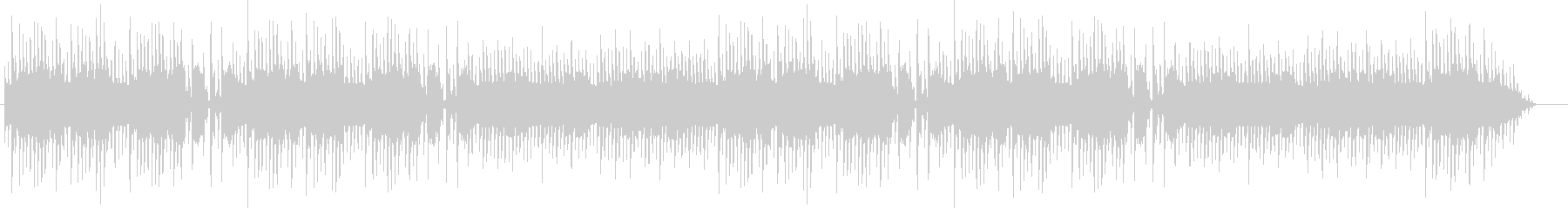 昔のアーケードゲーム風のブギウギ調ループの未再生の波形