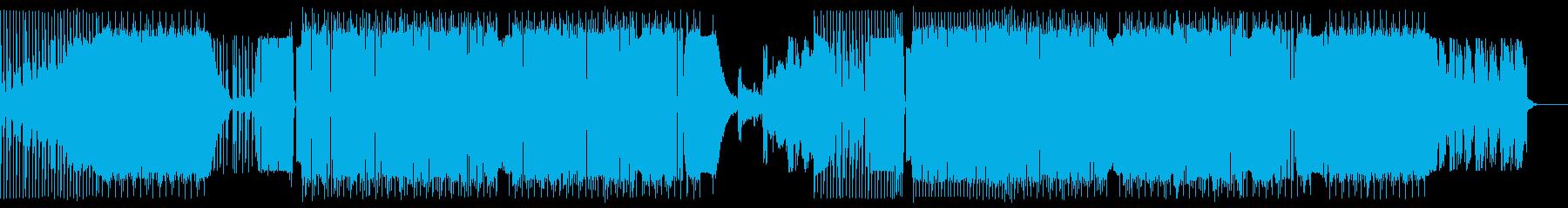 重く激しく攻撃的なDubstepの再生済みの波形