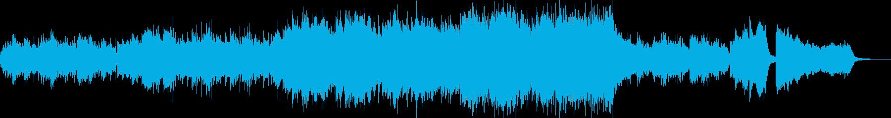 ピアノと弦楽器のわくわくするBGMの再生済みの波形