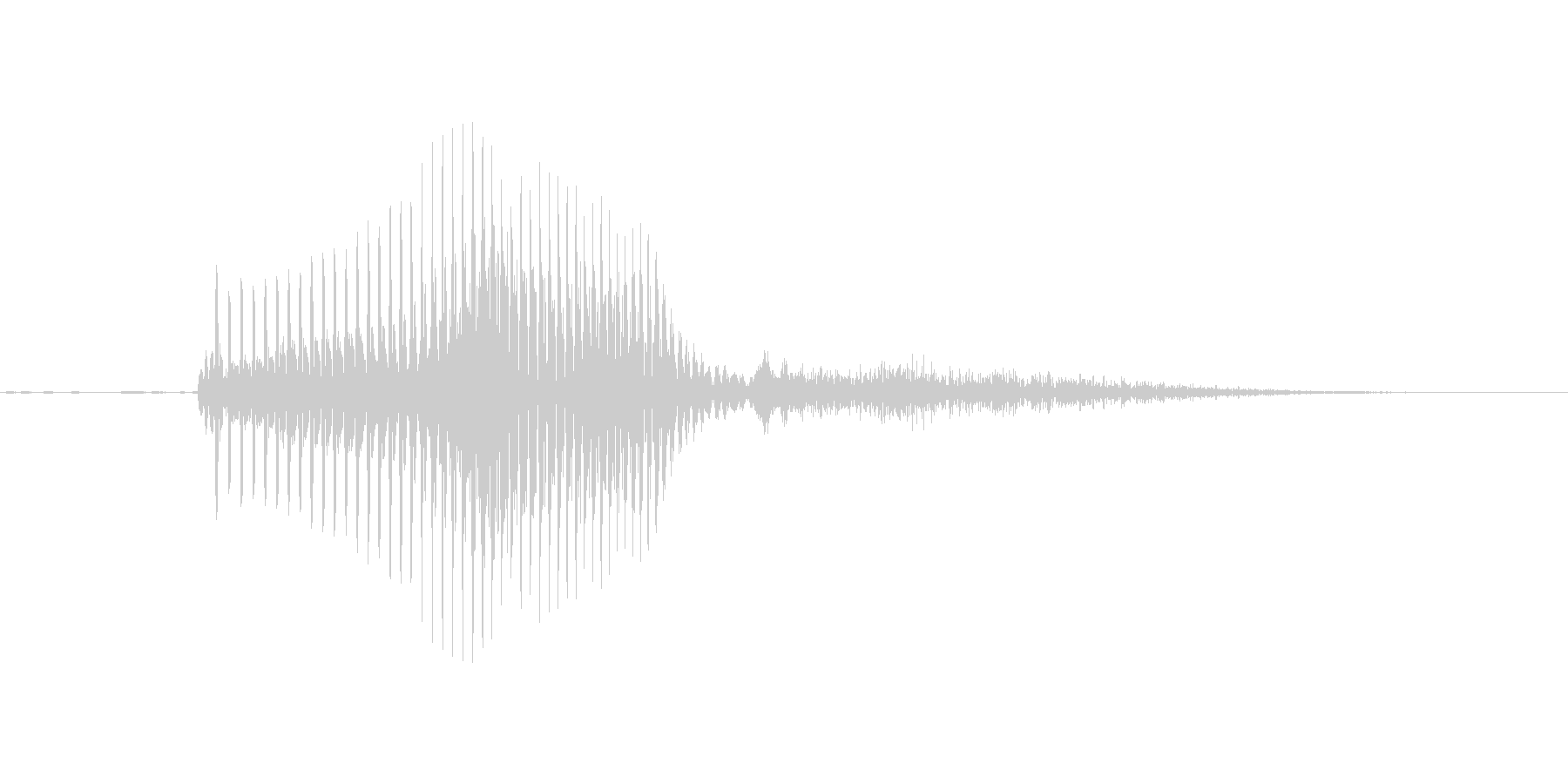 YES(いえす)の未再生の波形
