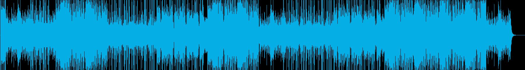 ディレイギターのシリアスなTRAPの再生済みの波形