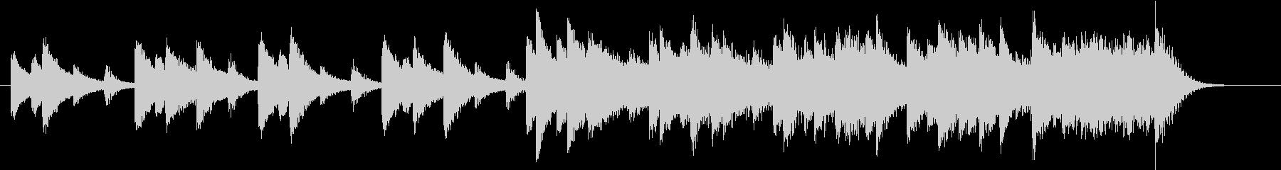ウインターワンダーランドピアノジングルCの未再生の波形