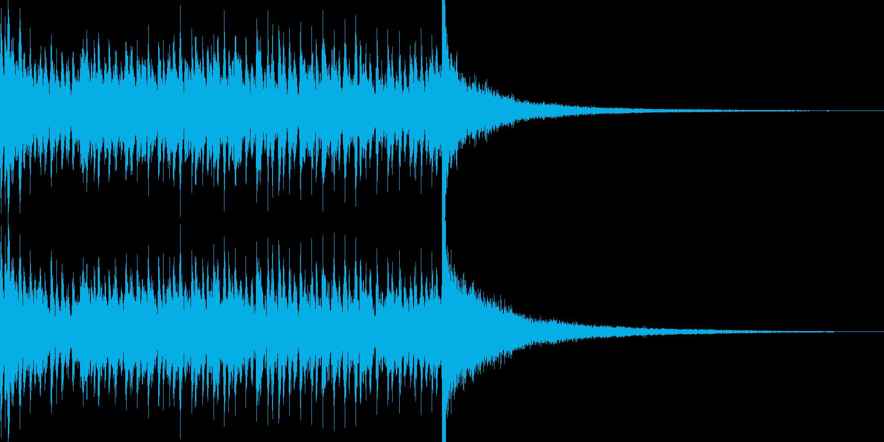 5秒でシンバルが鳴るドラムロール 豪華の再生済みの波形